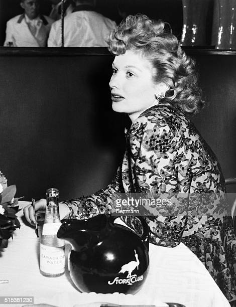 Actress Lucille Ball at the Stork Club