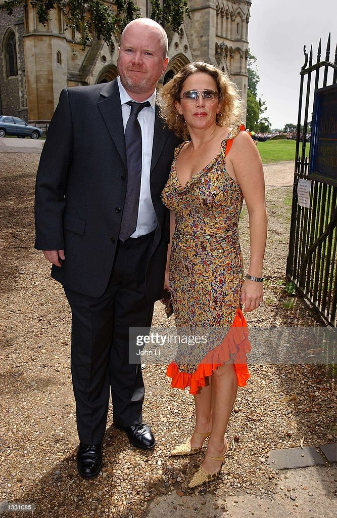 Actress Lucy Benjamin And Actor Steve Mcfadden Pose For Photographers As They Arrive The Wedding
