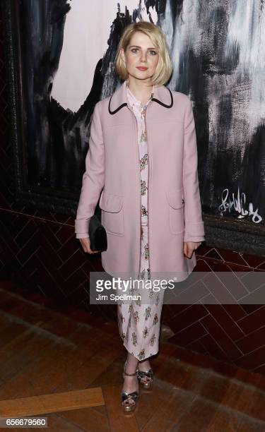 Actress Lucy Boynton attends the after party for the screening of 'The Blackcoat's Daughter' hosted by A24 and DirecTV with The Cinema Society at...