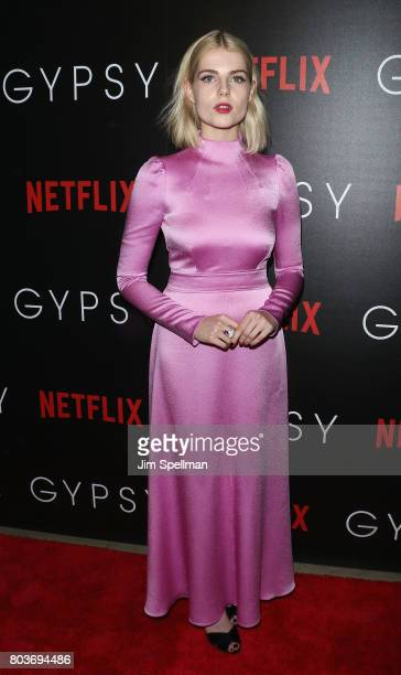 Actress Lucy Boynton attends the special screening of 'Gypsy' hosted by Netflix at Public Arts at Public on June 29 2017 in New York City