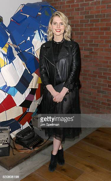 Actress Lucy Boynton attends The Weinstein Company hosts the premiere of 'Sing Street' after party at Hotel Indigo on April 12 2016 in New York City