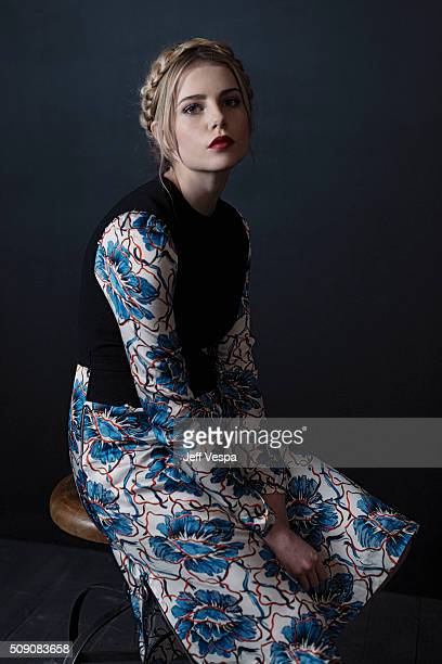 Actress Lucy Boynton of 'Sing Street' poses for a portrait at the 2016 Sundance Film Festival on January 24 2016 in Park City Utah
