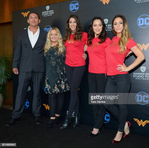 Actress Lucy Davis actor Eugene Brave Rock stunt double/actress Caitlin Dechelle actress/martial artist/stuntwoman Samantha Jo and stunt...