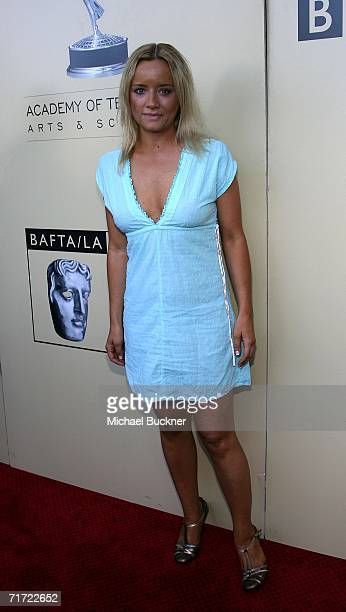 Actress Lucy Davis arrives at the BAFTA/LAAcademy of Television Arts and Sciences Tea Party at the Century Hyatt on August 26 2006 in Century City...
