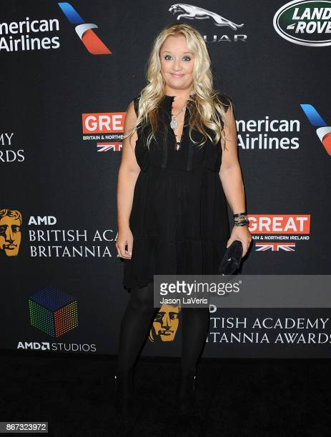 Actress Lucy Davis attends the 2017 AMD British Academy Britannia Awards at The Beverly Hilton Hotel on October 27, 2017 in Beverly Hills, California.