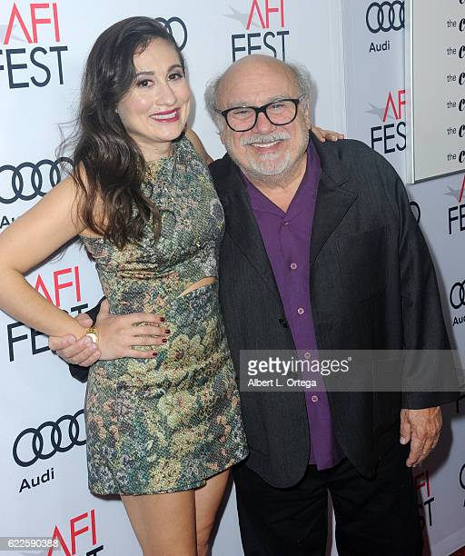 Actress Lucy DeVito and actor Danny DeVito arrive for the AFI FEST 2016 Presented By Audi Premiere Of Sony Pictures Classics' The Comedian held at...