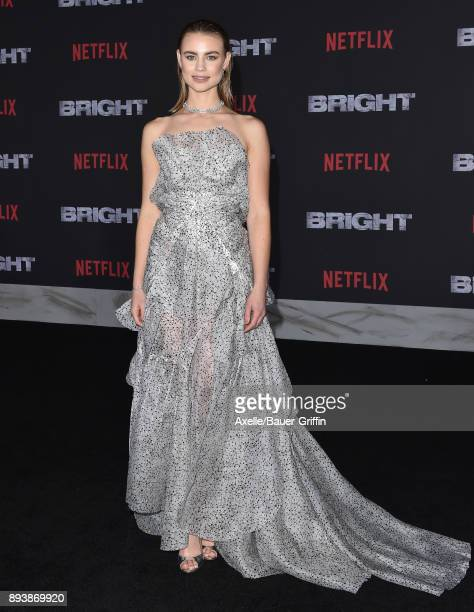 Actress Lucy Fry arrives at the premiere of Netflix's 'Bright' at Regency Village Theatre on December 13 2017 in Westwood California