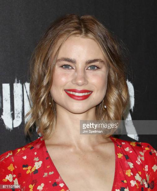 Actress Lucy Fry attends the 'Marvel's The Punisher' New York premiere at AMC Loews 34th Street 14 theater on November 6 2017 in New York City