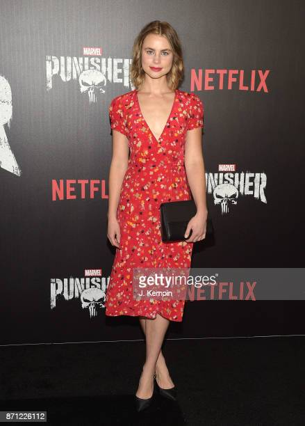 Actress Lucy Fry attends the 'Marvel's The Punisher' New York Premiere on November 6 2017 in New York City