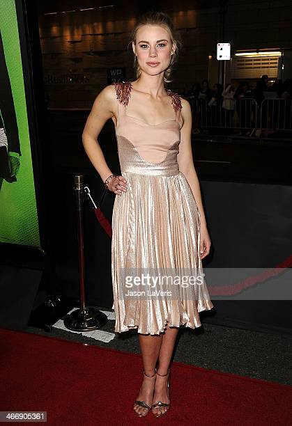 Actress Lucy Fry attends the premiere of 'Vampire Academy' at Regal Cinemas LA Live on February 4 2014 in Los Angeles California