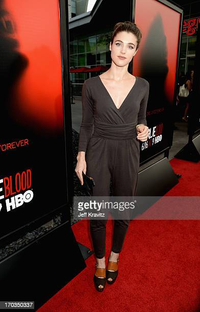 Actress Lucy Griffiths attends HBO's True Blood season 6 premiere at ArcLight Cinemas Cinerama Dome on June 11 2013 in Hollywood California