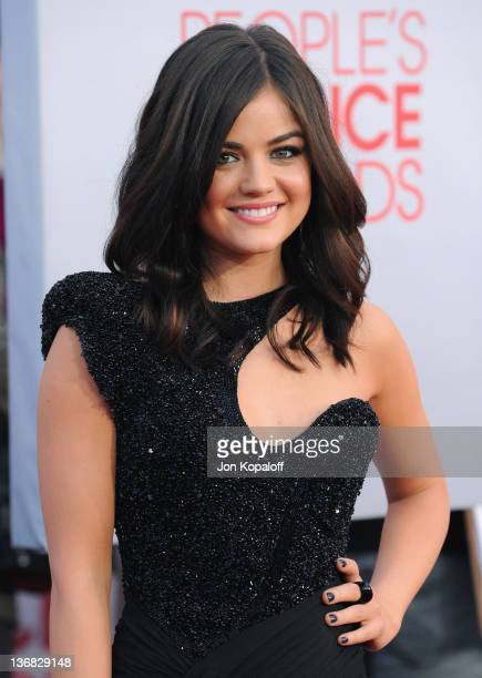 Actress Lucy Hale arrives at 2012 People's Choice Awards held at Nokia Theatre LA Live on January 11 2012 in Los Angeles California
