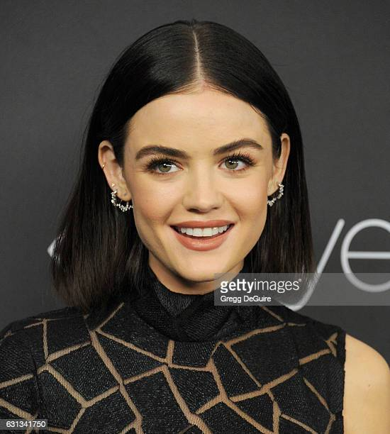 Actress Lucy Hale arrives at the 18th Annual PostGolden Globes Party hosted by Warner Bros Pictures and InStyle at The Beverly Hilton Hotel on...