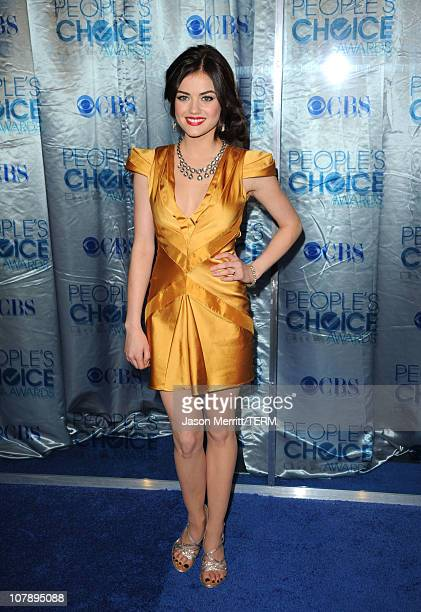 Actress Lucy Hale arrives at the 2011 People's Choice Awards at Nokia Theatre LA Live on January 5 2011 in Los Angeles California
