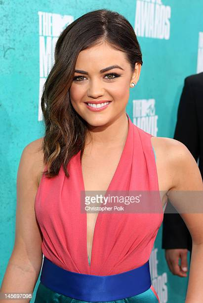 Actress Lucy Hale arrives at the 2012 MTV Movie Awards held at Gibson Amphitheatre on June 3 2012 in Universal City California
