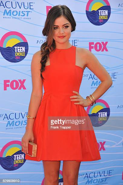 Actress Lucy Hale arrives at the 2012 Teen Choice Awards held at the Gibson Amphitheatre in Universal City California