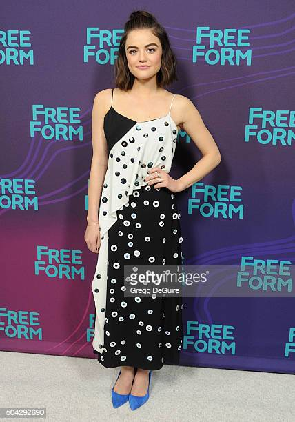 Actress Lucy Hale arrives at the 2016 Winter TCA Tour Disney/ABC at Langham Hotel on January 9 2016 in Pasadena California