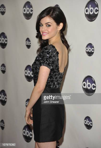 Actress Lucy Hale arrives to the Disney ABC Television Group Winter Press Tour at the Langham Hotel on January 10 2011 in Pasadena California
