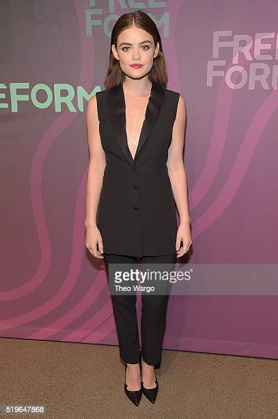 Actress Lucy Hale attends 2016 ABC Freeform Upfront at Spring Studios on April 7 2016 in New York City
