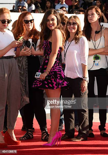 Actress Lucy Hale attends the 2014 MTV Video Music Awards at The Forum on August 24, 2014 in Inglewood, California.