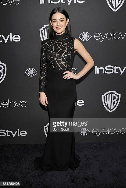 Actress Lucy Hale attends The 2017 InStyle and Warner Bros 73rd Annual Golden Globe Awards PostParty at The Beverly Hilton Hotel on January 8 2017 in...