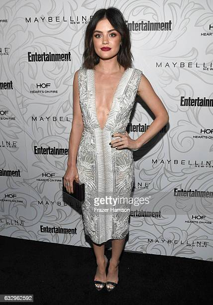 Actress Lucy Hale attends the Entertainment Weekly Celebration of SAG Award Nominees sponsored by Maybelline New York at Chateau Marmont on January...