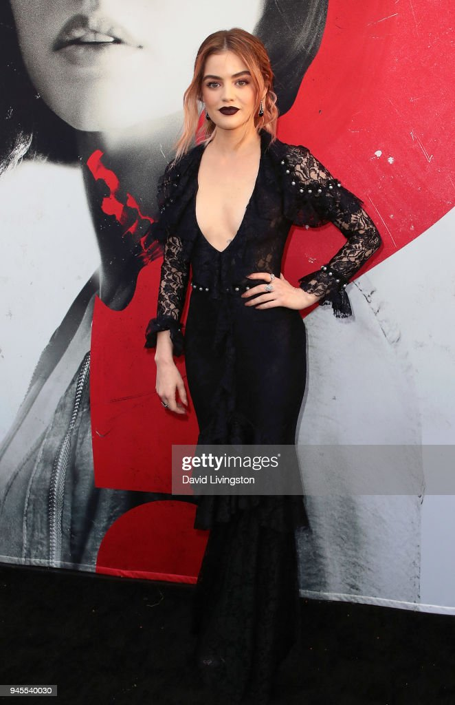 Actress Lucy Hale attends the premiere of Universal Pictures' 'Blumhouse's Truth or Dare' at ArcLight Cinemas Cinerama Dome on April 12, 2018 in Hollywood, California.