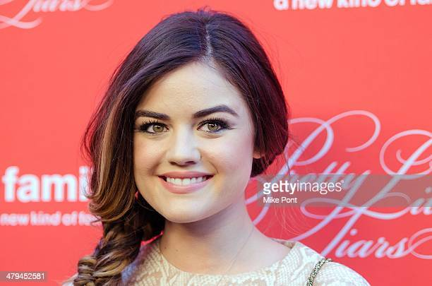 Actress Lucy Hale attends the 'Pretty Little Liars' season finale screening at the Ziegfeld Theater on March 18 2014 in New York City