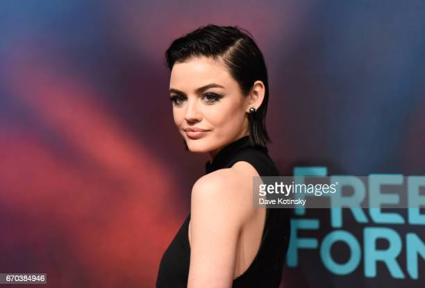 Actress Lucy Hale of Pretty Little Liars attends Freeform 2017 Upfront at Hudson Mercantile on April 19 2017 in New York City
