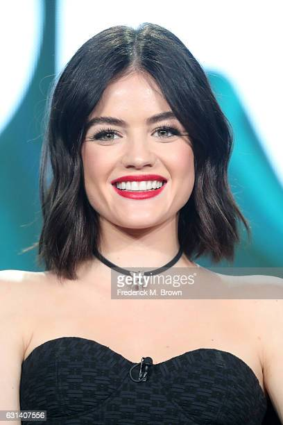 Actress Lucy Hale of the television show 'Pretty Little Liars' speaks onstage during the DisneyABC portion of the 2017 Winter Television Critics...