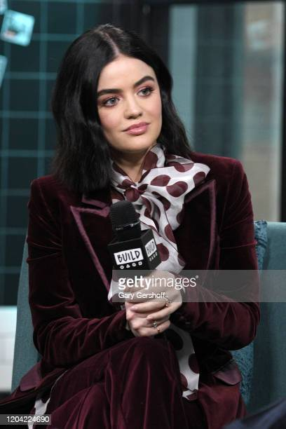 """Actress Lucy Hale visits the Build Series to discuss the CW series """"Katy Keene"""" and the film """"Fantasy Island"""" at Build Studio on February 05 2020 in..."""