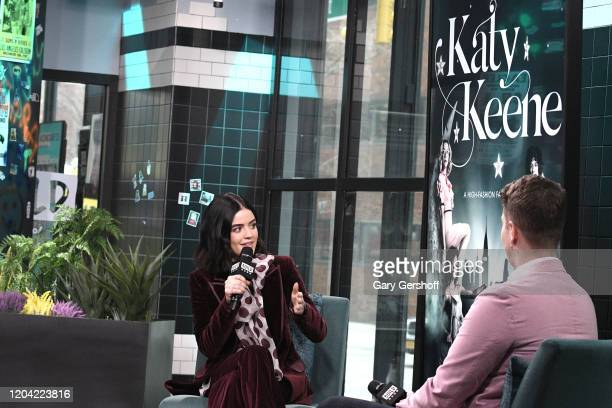 """Actress Lucy Hale visits the Build Series with host Cole Delbyck to discuss the CW series """"Katy Keene"""" and the film """"Fantasy Island"""" at Build Studio..."""