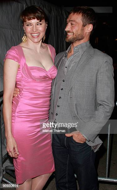 Actress Lucy Lawless and actor Andy Whitfield are seen on the Streets of Manhattan on January 21 2010 in New York City