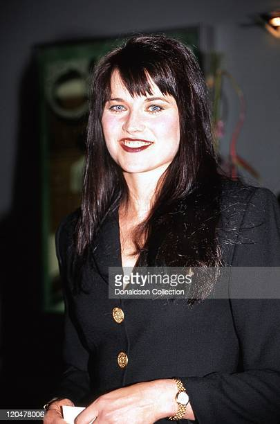 Actress Lucy Lawless attends an MCA Television promtional event for her TV show 'Xena: Warrior Princess' in January 1996 in Las Vegas, Nevada.