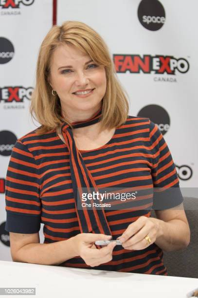 Actress Lucy Lawless attends the 2018 Fan Expo Canada at Metro Toronto Convention Centre on September 1 2018 in Toronto Canada