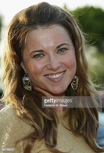 Actress Lucy Lawless attends the 31st Annual Saturn Awards at the Universal Hilton Hotel on May 3, 2005 in Los Angeles, California.
