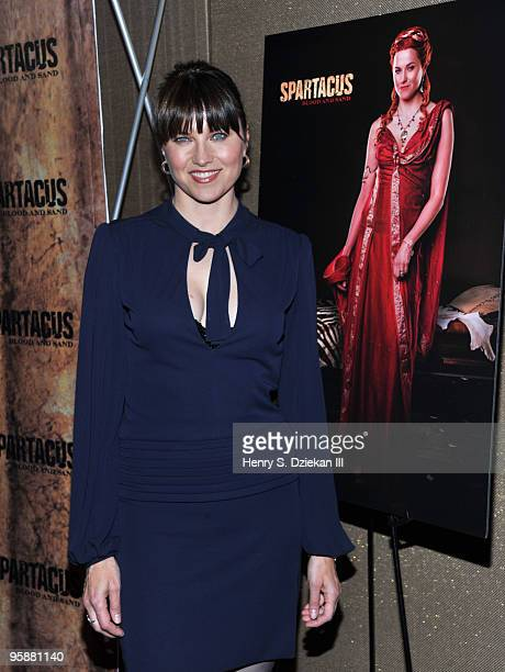 Actress Lucy Lawless attends the premiere of Spartacus Blood and Sand at the Tribeca Grand Screening Room on January 19 2010 in New York City