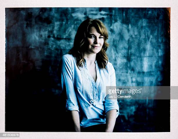 Actress Lucy Lawless of 'Ash vs Evil Dead' is photographed on polaroid film at ComicCon International 2015 for Los Angeles Times on July 9 2015 in...