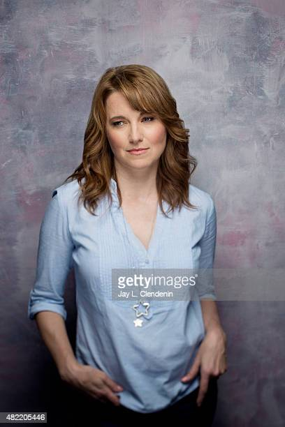 Actress Lucy Lawless of 'Ash vs Evil Dead' poses for a portrait at ComicCon International 2015 for Los Angeles Times on July 9 2015 in San Diego...
