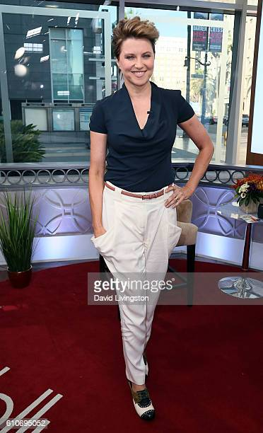 Actress Lucy Lawless visits Hollywood Today Live at W Hollywood on September 27, 2016 in Hollywood, California.