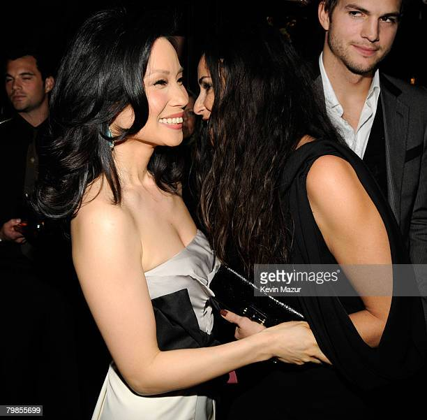 NEW YORK FEBRUARY 06 Actress Lucy Liu and Actress Demi Moore at the Madonna and Gucci Host A Night to Benefit Raising Malawi and UNICEF at the United...