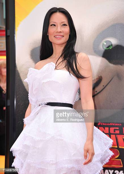 """Actress Lucy Liu arrives at DreamWorks Animation's """"Kung Fu Panda 2"""" Los Angeles Premiere held at Grauman's Chinese Theatre on May 22, 2011 in..."""