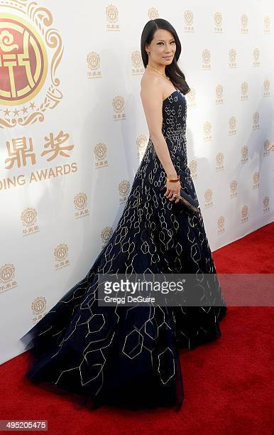 Actress Lucy Liu arrives at the 2014 Huading Film Awards at The Montalban Theater on June 1 2014 in Hollywood California
