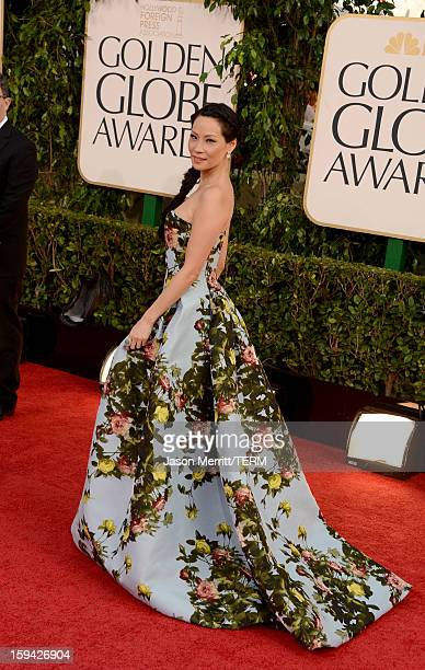 Actress Lucy Liu arrives at the 70th Annual Golden Globe Awards held at The Beverly Hilton Hotel on January 13 2013 in Beverly Hills California