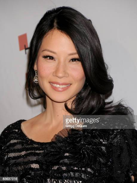 Actress Lucy Liu arrives at The Behind the Camera Awards presented by Hamilton and Hollywood Life at The Highlands on November 9 2008 in Los Angeles...