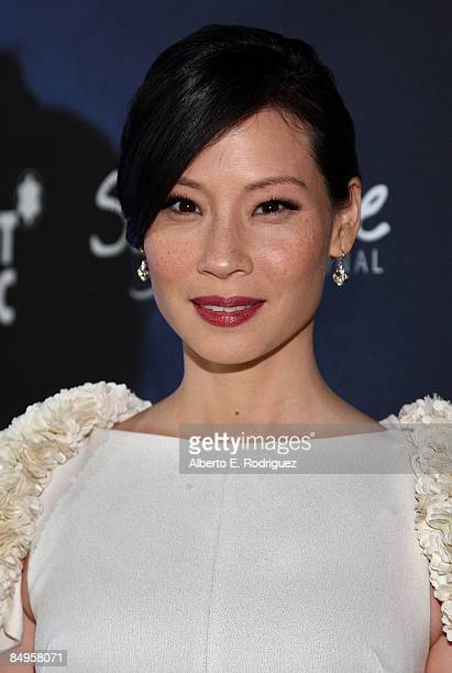 Actress Lucy Liu arrives at the 'Montblanc Signature for Good' Charity Initiative held at Paramount Studios on February 20 2009 in Los Angeles...