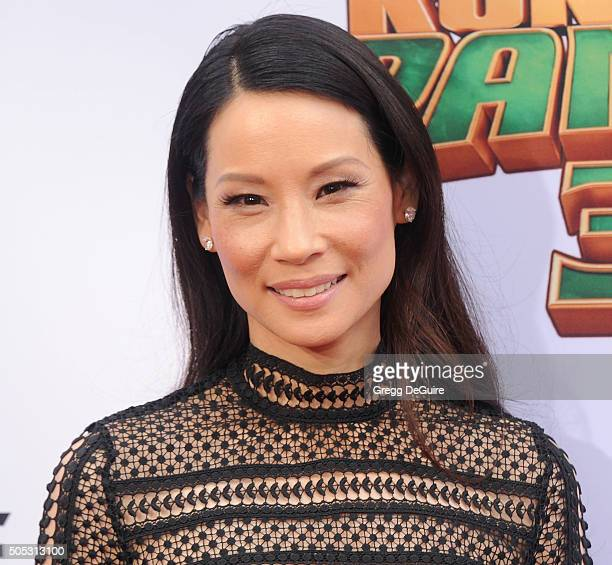 Actress Lucy Liu arrives at the premiere of 20th Century Fox's 'Kung Fu Panda 3' at TCL Chinese Theatre on January 16 2016 in Hollywood California