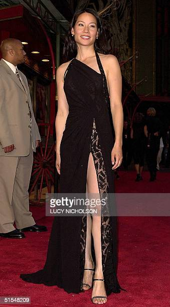 Actress Lucy Liu arrives at the premiere of her new film Shanghai Noon at the Chinese Theater in Hollywood CA 23 May 2000 The film also stars Jackie...
