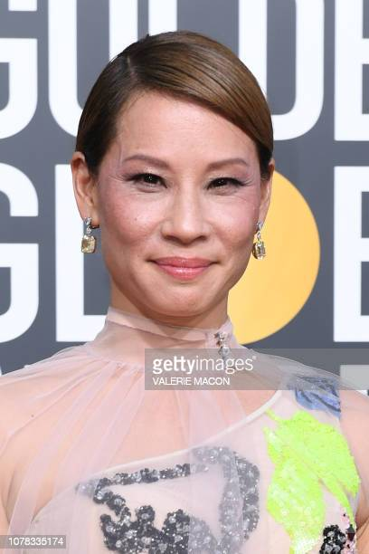US actress Lucy Liu arrives for the 76th annual Golden Globe Awards on January 6 at the Beverly Hilton hotel in Beverly Hills California