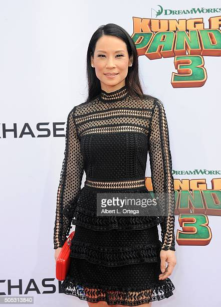 Actress Lucy Liu arrives for the premiere of DreamWorks Animation and Twentieth Century Fox's 'Kung Fu Panda 3' held at TCL Chinese Theatre on...